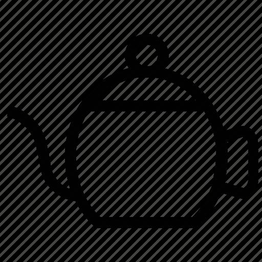 crockery, kettle, tea kettle, tea pot, tea serving icon