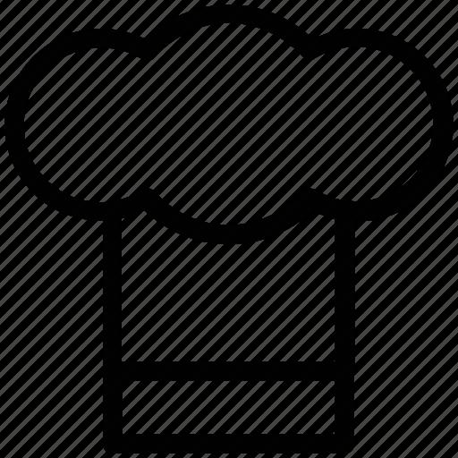 chef hat, chef toque, chef uniform, cook hat, headwear icon