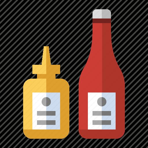 burger, condiments, food, grill, hotdog, ketchup, mustard icon