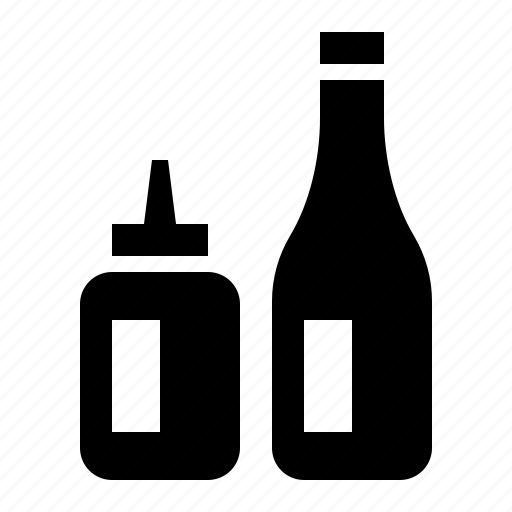 condiments, food, grill, ketchup, kitchen, mustard icon