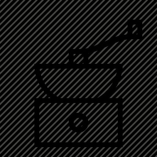 cafe, caffeine, coffee, drink, food, grinder, kitchen icon