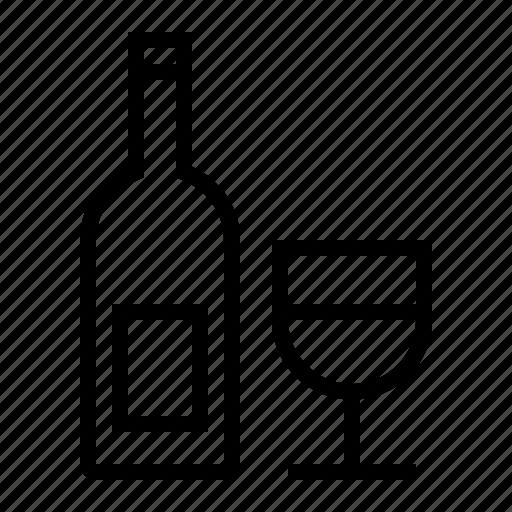 alcohol, booze, bottle, drink, food, glass, liquor, wine icon