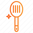 kitchen, slotted, spoon icon