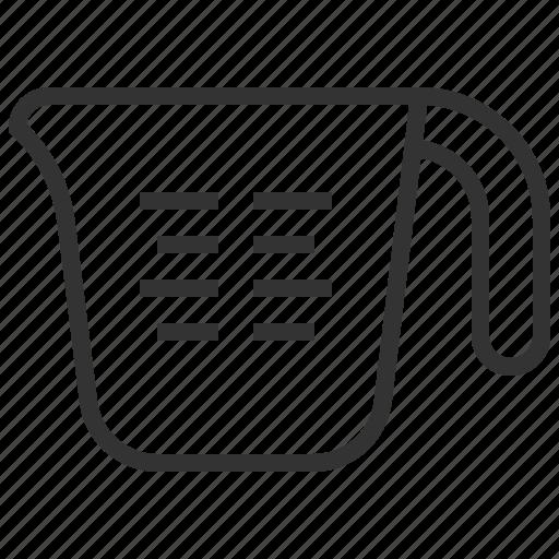 cup, food, measuring, mug icon