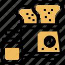 bread, breakfast, electric, jar, toaster
