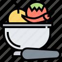 grind, herb, mortar, paste, spice icon