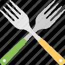 crossed forks, cutlery, dining, forks, silverware