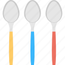 cutlery, kitchen utensils, silverware, spoons, tablespoons icon