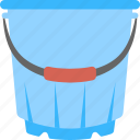 bucket, liquid container, pail, water bucket, water container icon