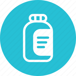 bottle, container, jam, kitchen icon