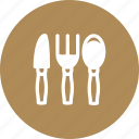 cultery, fork, knife, spoon, utensils icon