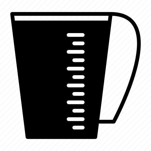 cup, drink, glass, kitchen utensils, measuring icon