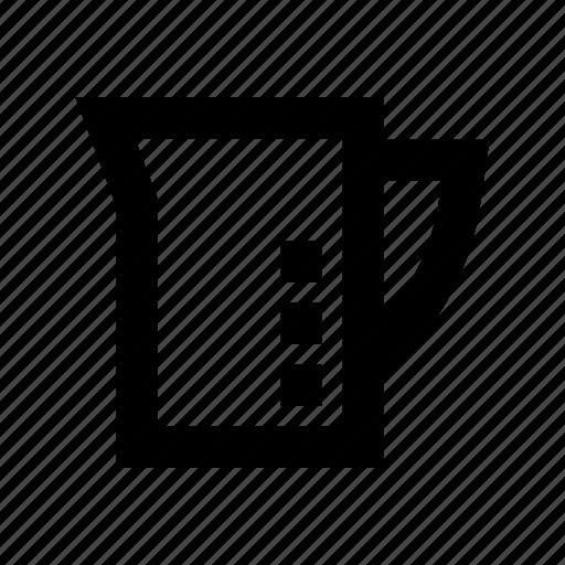 jug, kitchen utensil, measuring cup, measuring jug, water jug icon