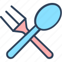 cutlery, eating utensil, fork, spoon, utensils icon