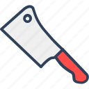 butcher knife, chef knife, chopping knife, cleaver, knife
