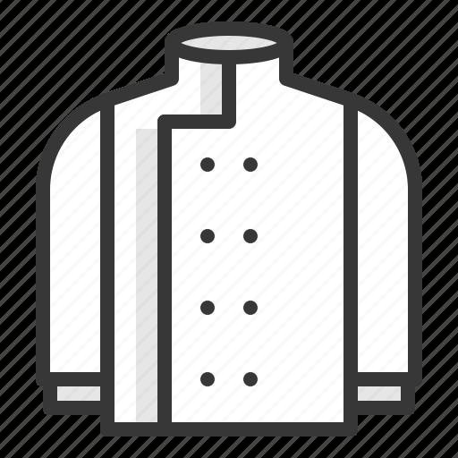 chef, chef uniform, chefs jacket, kitchen, utensill icon