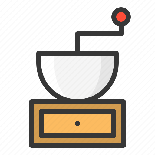 grinder, kitchen, utensill icon