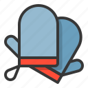 glove, kitchen, oven glove, utensill icon