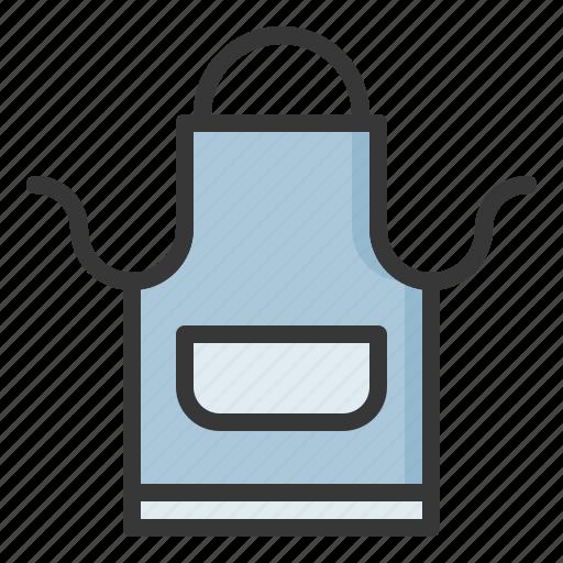 apron, cloth, kitchen, restaurant, utensill icon