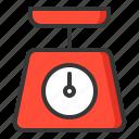 dial spring scale, kitchen, utensill, weight, weight machine icon