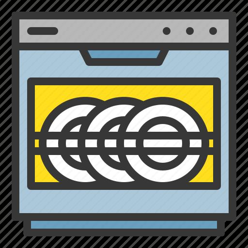 dish, dishwasher, kitchen, kitchenware, utensill icon