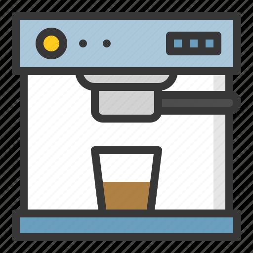 coffee, coffee machine, kitchen, kitchenware, utensill icon