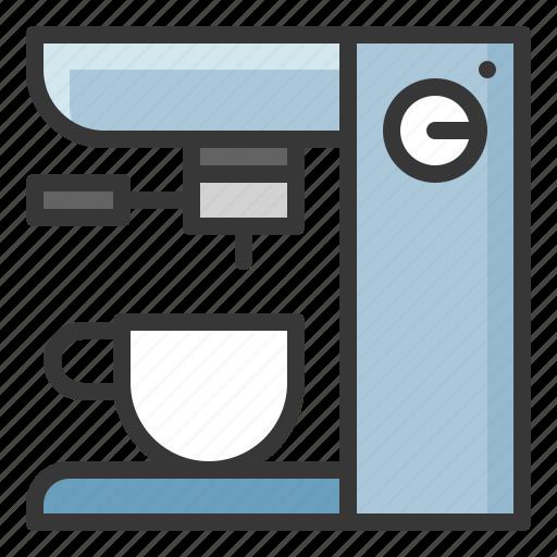 coffee machine, kitchen, kitchenware, utensill icon