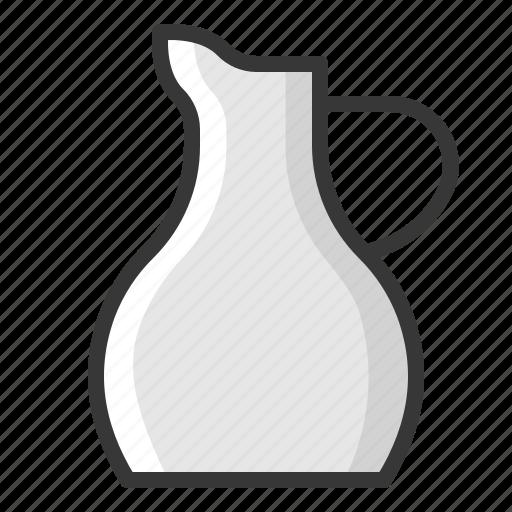 jug, kitchen, kitchenware, porcelain milk jug, utensill icon