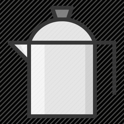 jug, kitchen, stainless steel jug, utensill icon
