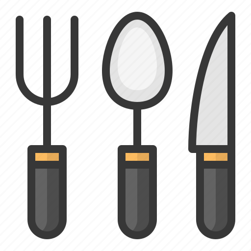 fork, kitchen, kitchenware, knife, spoon, utensill icon