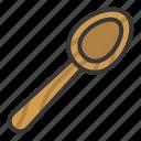 kitchen, kitchenware, scoop, utensill, wooden scoop icon