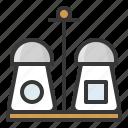 bottle, kitchen, kitchenware, pepper shaker, salt, salt shaker, utensill icon