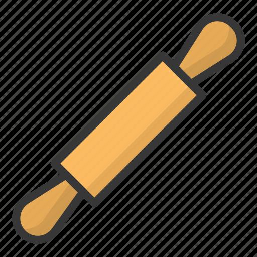 kitchen, kitchenware, rolling pin, utensill icon