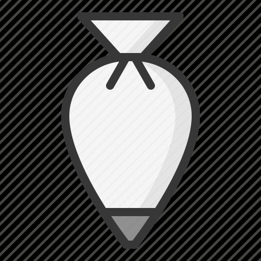 kitchen, kitchenware, pastry bag, utensill icon