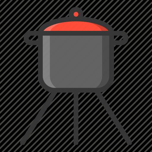 cooking pot, kitchen, kitchenware, pot, utensill icon