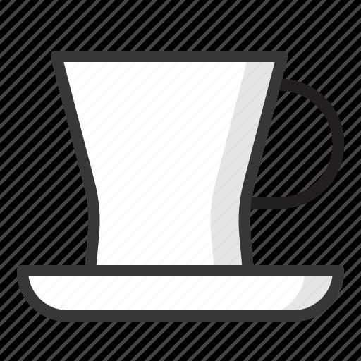 cup, kitchen, kitchenware, saucer, teacup, utensill icon