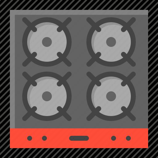 gas stove, kitchen, kitchenware, utensill icon