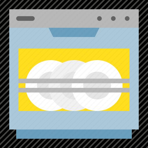 dishwasher, kitchen, kitchenware, utensill icon