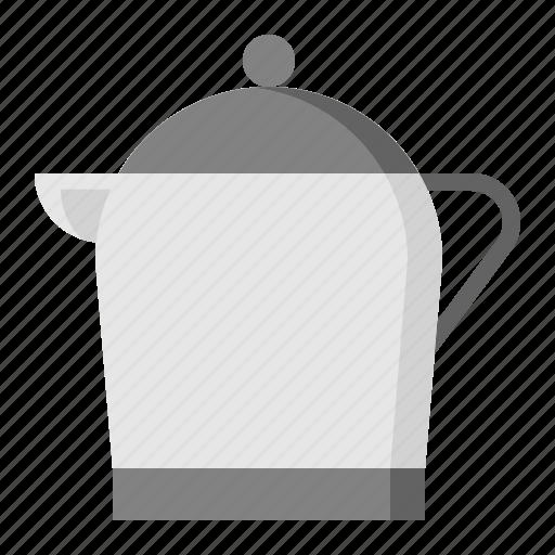 kitchen, kitchenware, metal jug, utensill icon