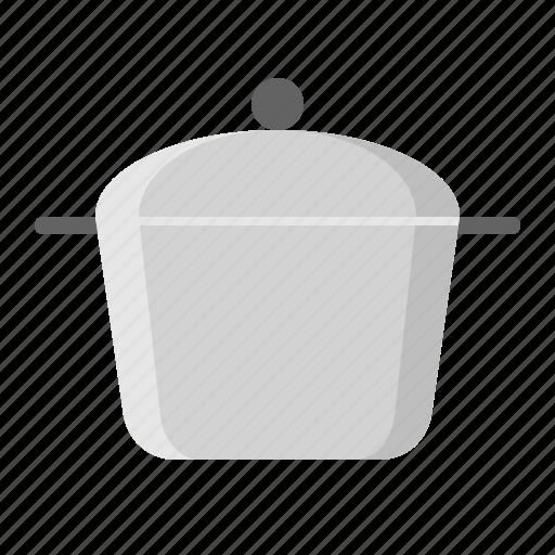 kitchen, kitchenware, steel pot, utensill icon
