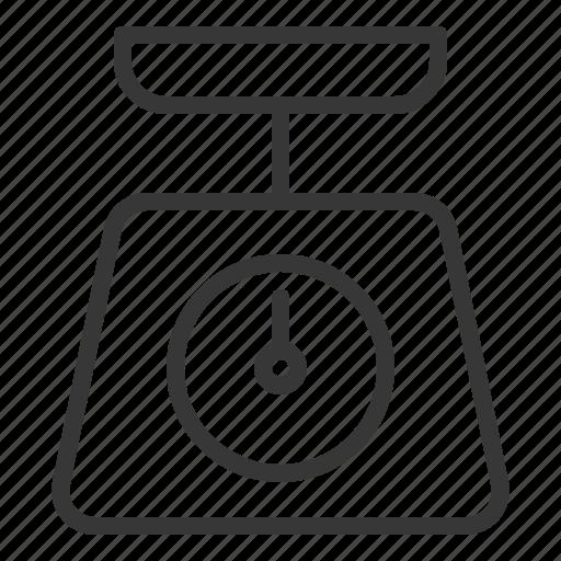 kitchen, kitchenware, utensill, weight, weight machine icon