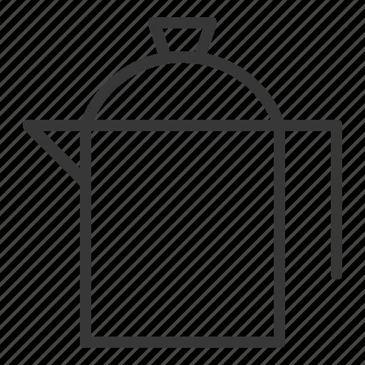 kettle, kitchen, kitchenware, stainless steel jug, utensill icon
