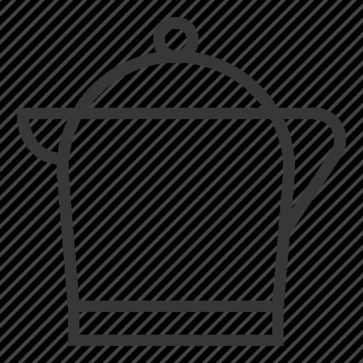jug, kitchen, kitchenware, metal jug, utensill icon