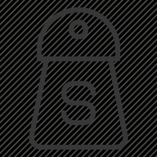 bottle, kitchen, kitchenware, salt shaker, utensill icon