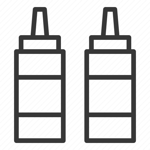 ketchup bottle, kitchen, kitchenware, sauce bottle, utensill icon