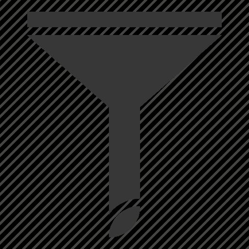 funnel, glass funnel, kitchen, kitchenware, utensill icon
