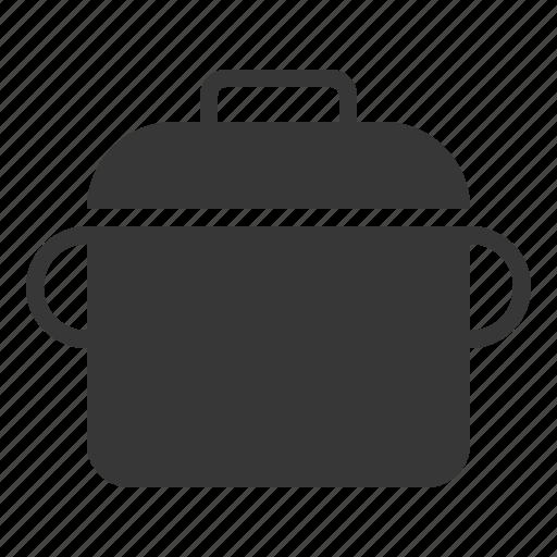 kitchen, kitchenware, pot, steel pot, utensill icon