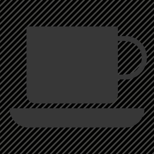 coffee cup, kitchen, kitchenware, saucer, utensill icon