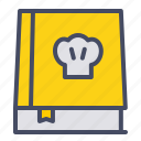 book, chef, cooking, guide, kitchen, manual, recipe icon