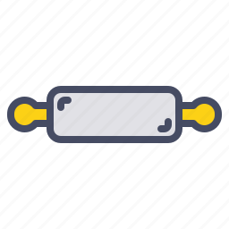 cook, dough, food, kitchen, pin, roller, rollin icon